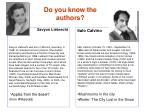 do you know the authors