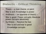 dialectic critical thinking