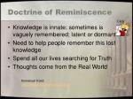 doctrine of reminiscence