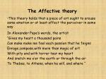 the affective theory