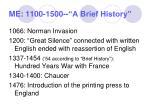 me 1100 1500 a brief history