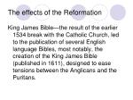 the effects of the reformation
