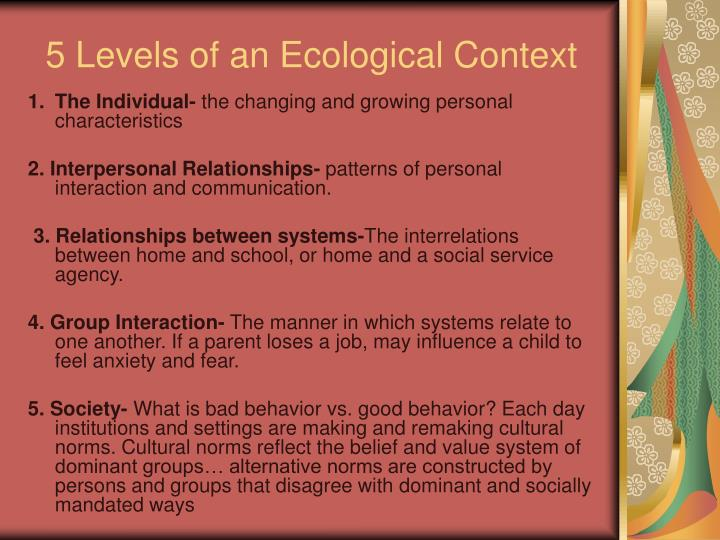 5 levels of an ecological context