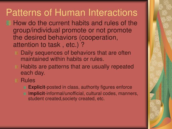 Patterns of Human Interactions