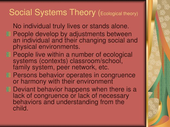 Social systems theory ecological theory