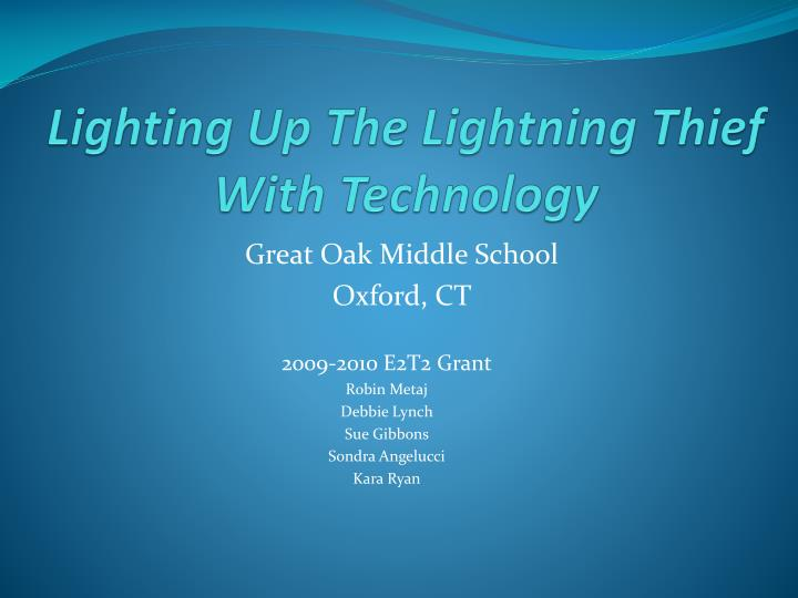 lighting up the lightning thief with technology n.