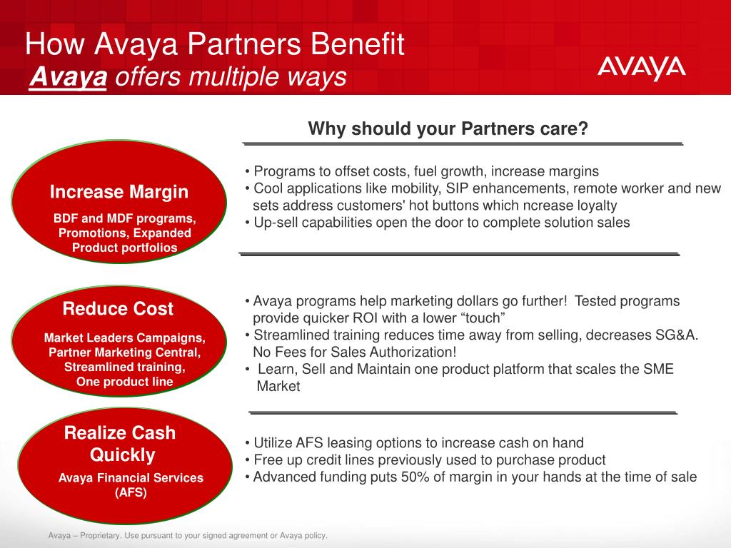 How Avaya Partners Benefit