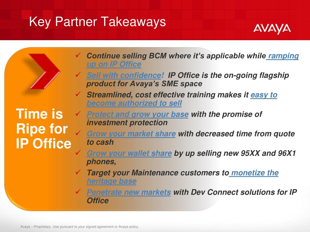 Key Partner Takeaways