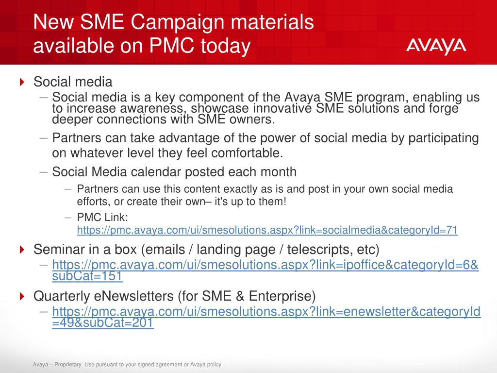 New SME Campaign materials available on PMC today