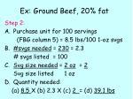 ex ground beef 20 fat