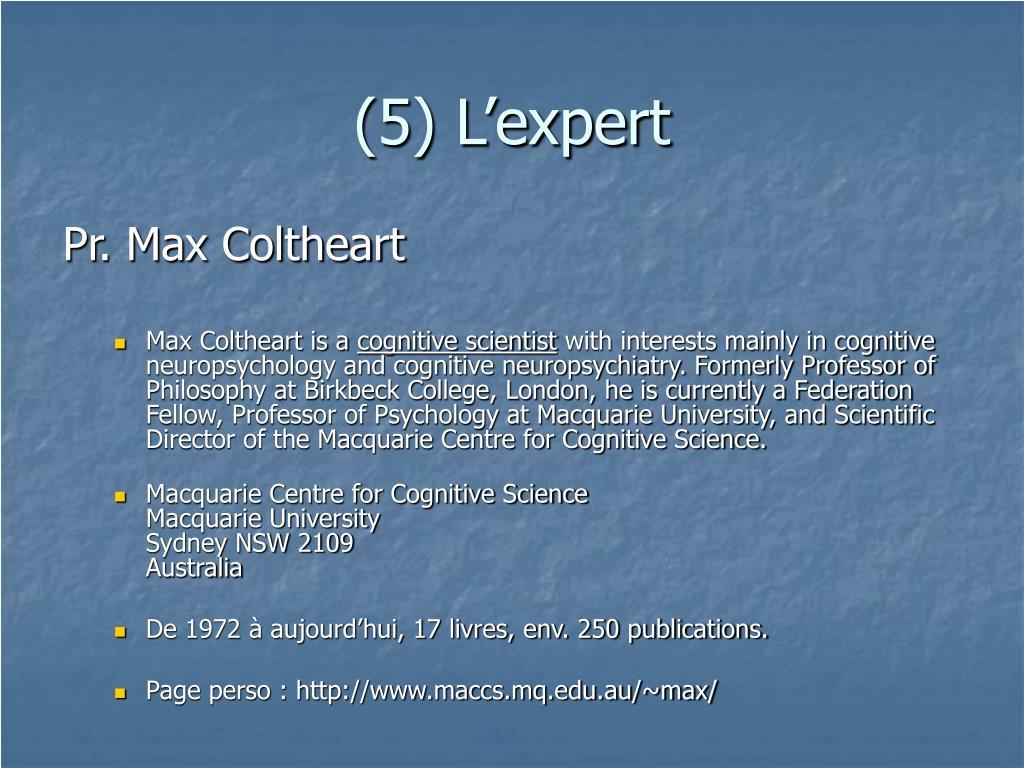 (5) L'expert