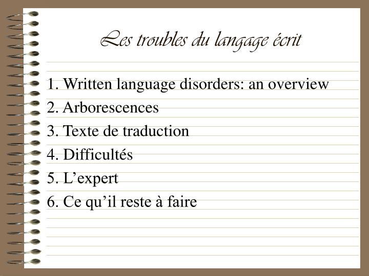 Les troubles du langage crit