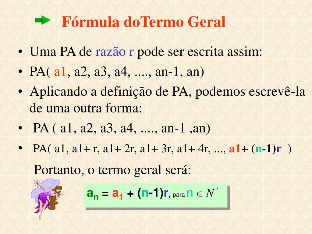 Fórmula doTermo Geral