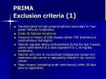 prima exclusion criteria 1