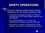safety operations
