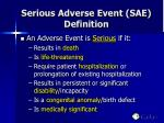 serious adverse event sae definition