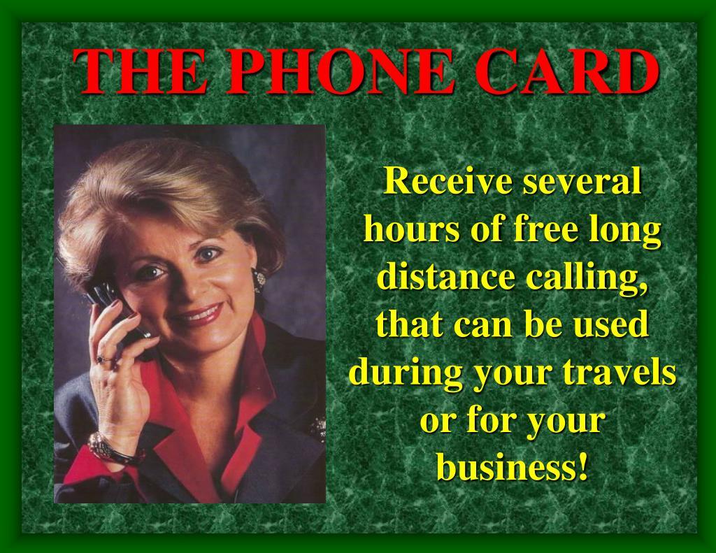 THE PHONE CARD