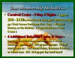 your membership includes
