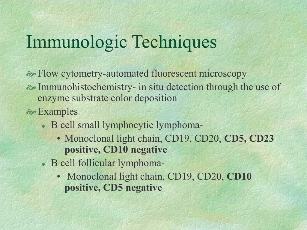 Immunologic Techniques
