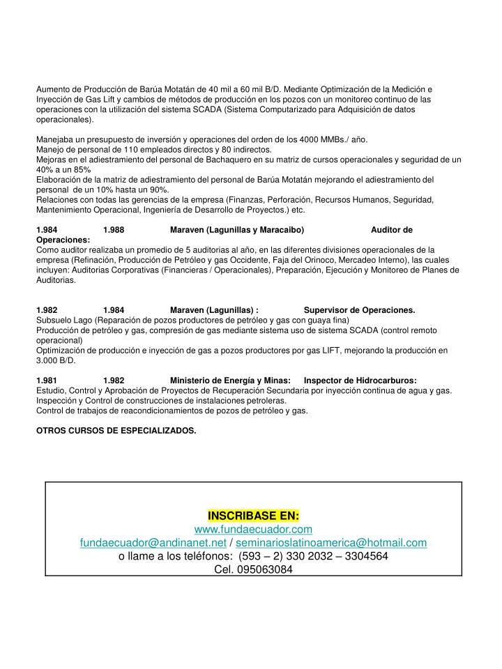 Aumento de Producción de Barúa Motatán de 40 mil a 60 mil B/D. Mediante Optimización de la Medic...