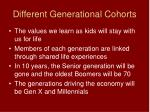 different generational cohorts
