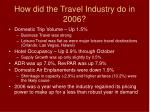 how did the travel industry do in 2006