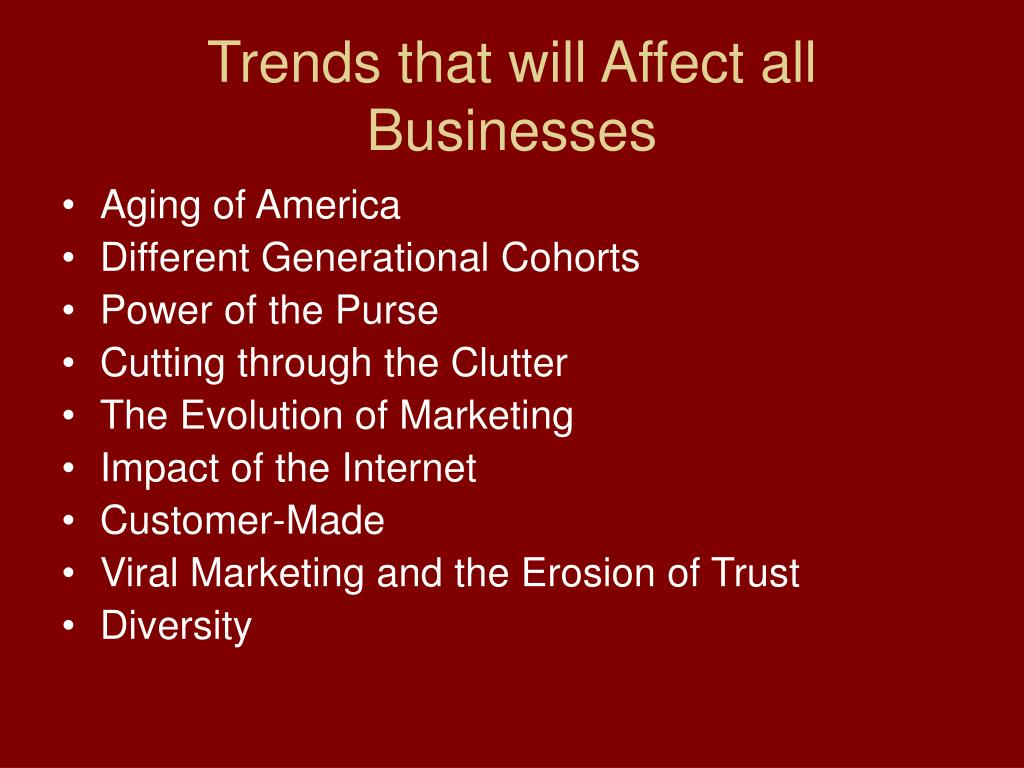 Trends that will Affect all Businesses