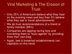viral marketing the erosion of trust