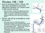 routes 108 109