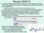 routes 203 213