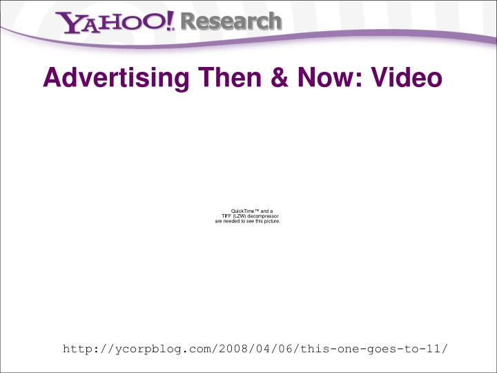 Advertising then now video