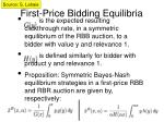 first price bidding equilibria