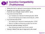 incentive compatibility truthfulness