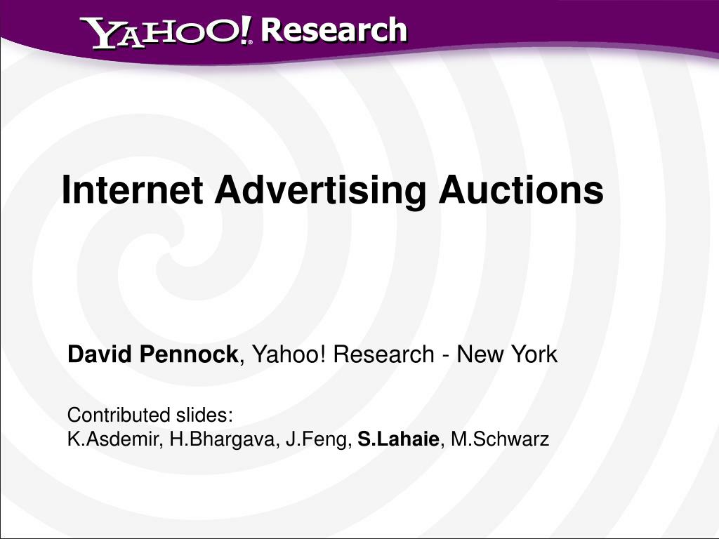 internet advertising auctions l.