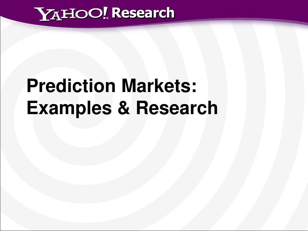 Prediction Markets: