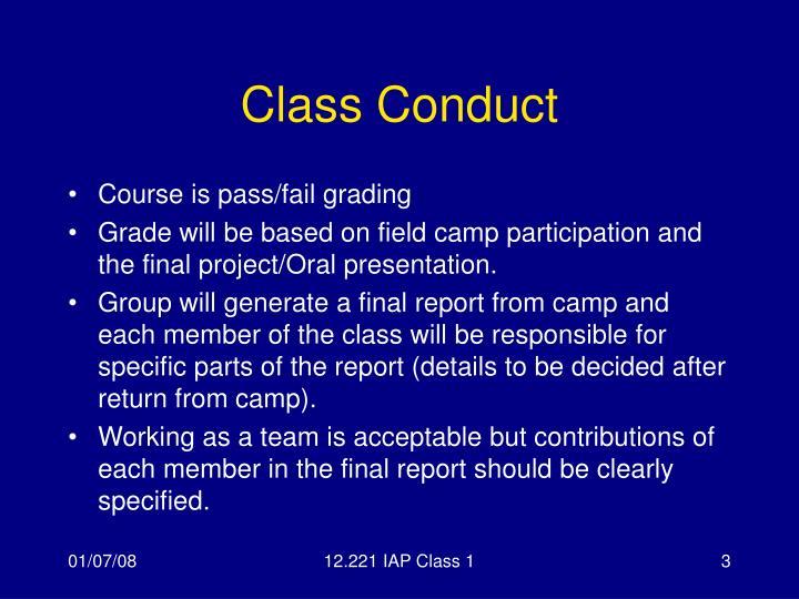 Class conduct