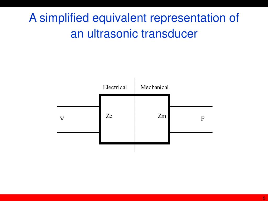 A simplified equivalent representation of an ultrasonic transducer