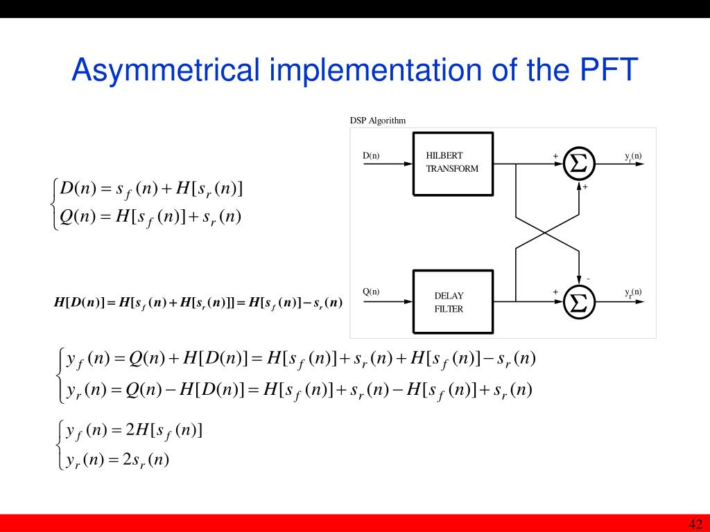 Asymmetrical implementation of the PFT
