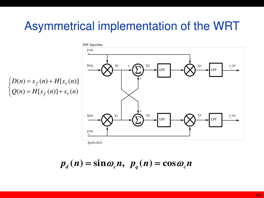 Asymmetrical implementation of the WRT