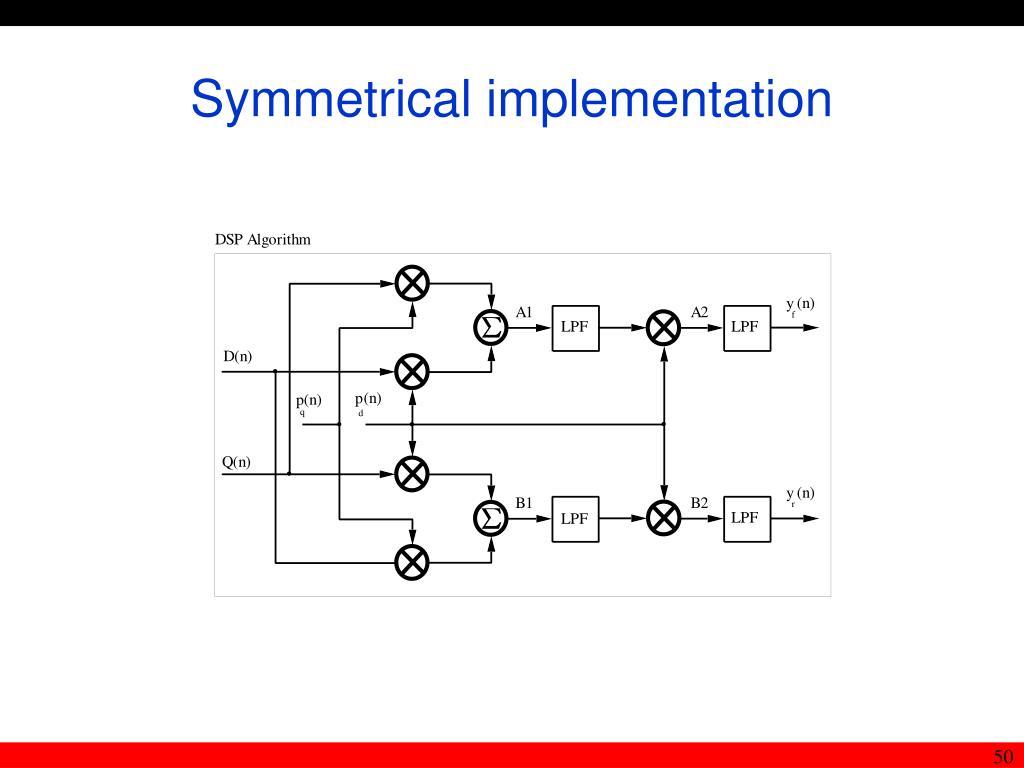 Symmetrical implementation