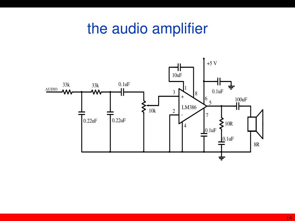 the audio amplifier