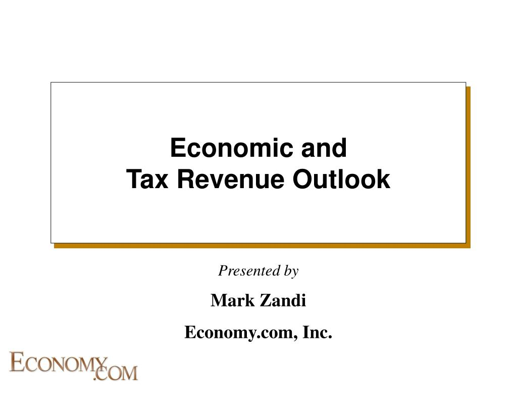 economic and tax revenue outlook l.
