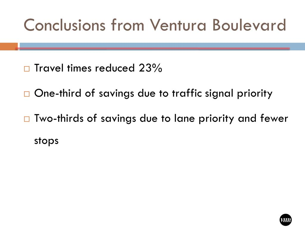 Conclusions from Ventura Boulevard