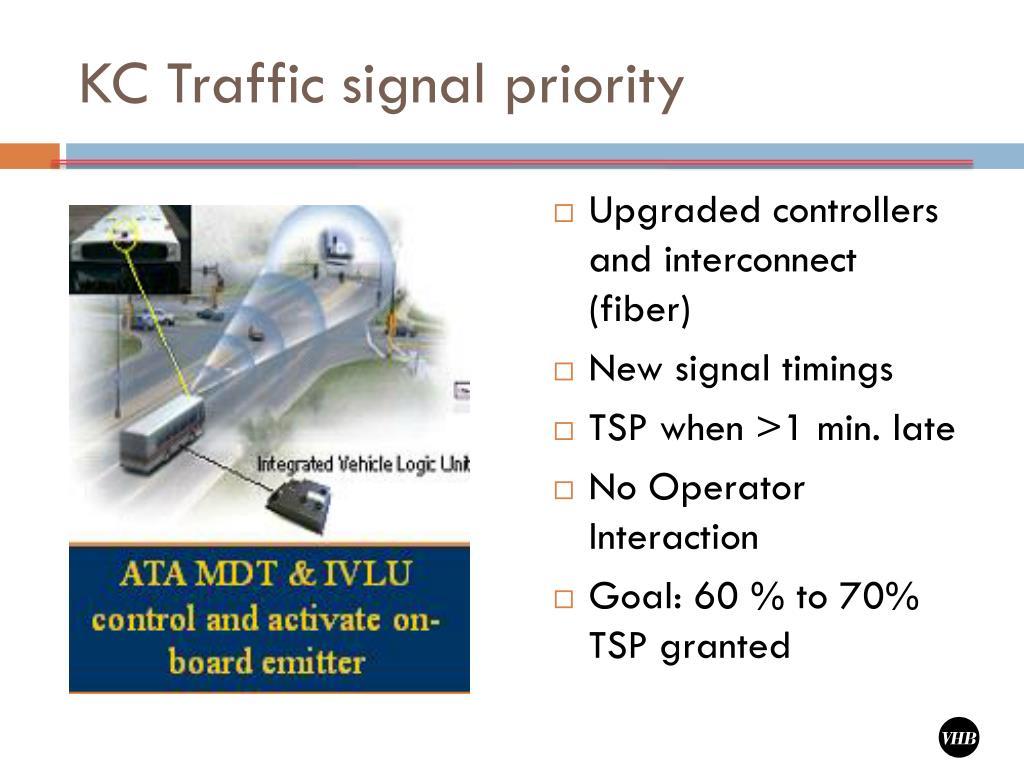KC Traffic signal priority