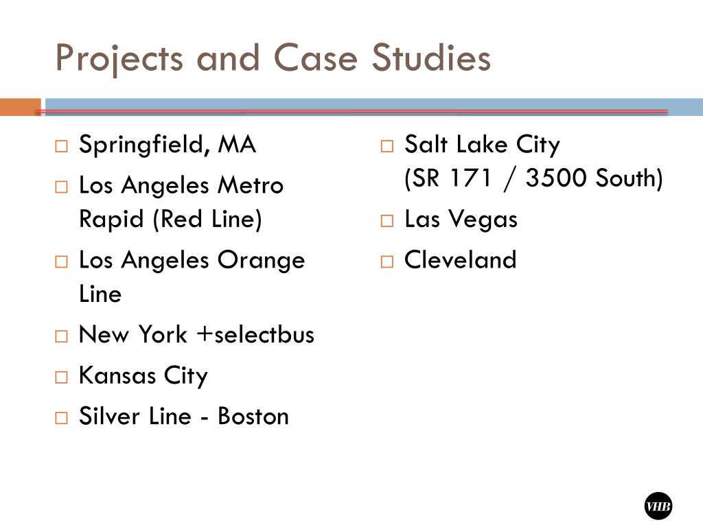 Projects and Case Studies