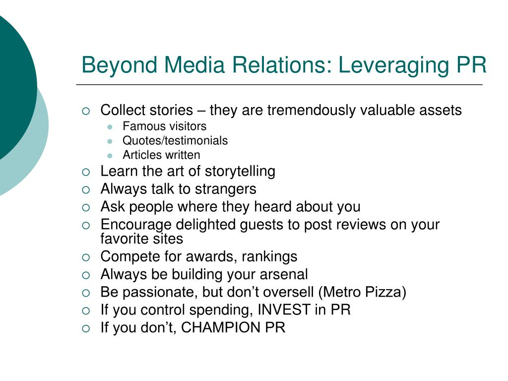 Beyond Media Relations: Leveraging PR