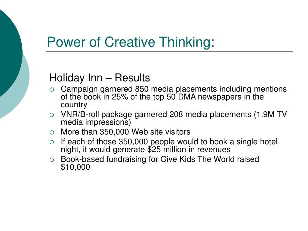 Power of Creative Thinking: