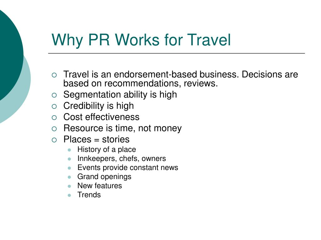 Why PR Works for Travel