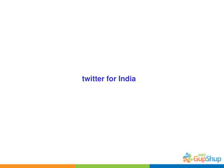 twitter for India