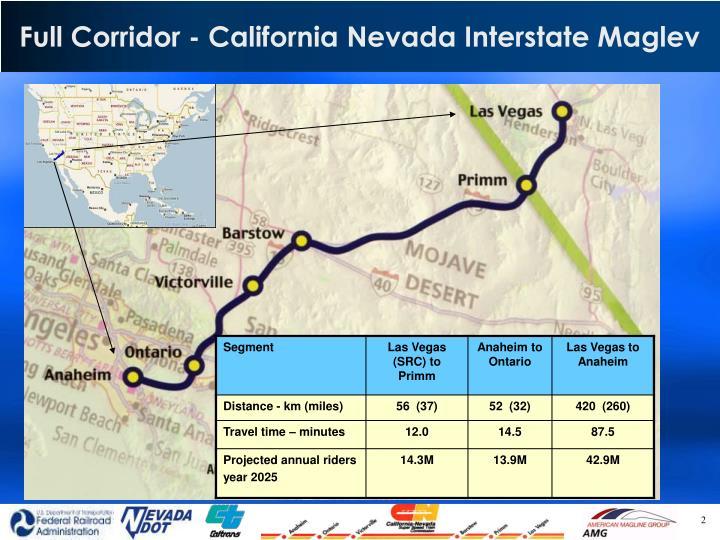 Full Corridor - California Nevada Interstate Maglev